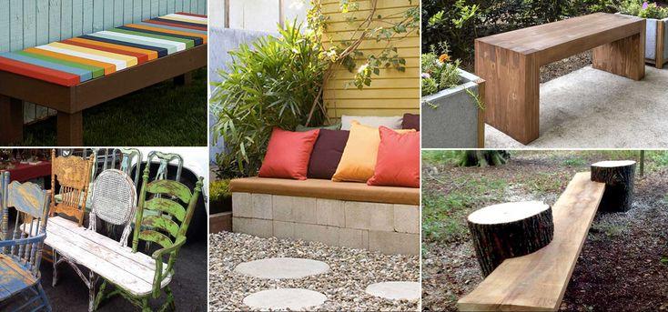 Bygg egna sittbänkar för altanen och trädgården i trä och betong. Genom att anpassa storleken på bänkarna efter platsen blir det extra lyxigt.Flera byggbeskrivningar till bänkarna.