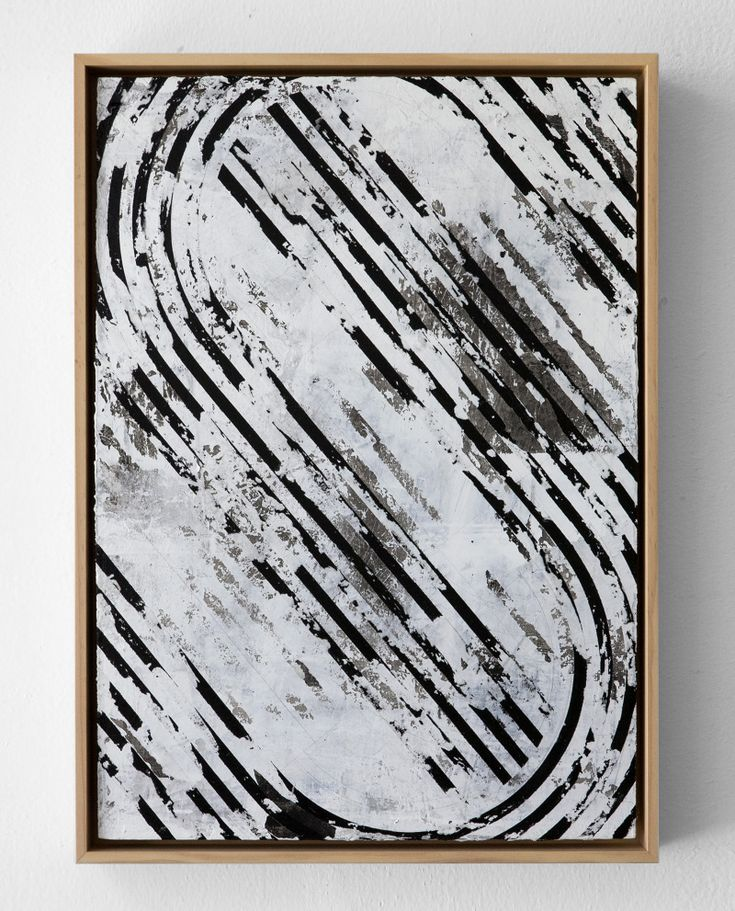1.  Untitled (slanted) 30x42cm, Enamel, acrylic, ink and wax on wood Berlin, 2016 available at Athen B. gallery, Oakland