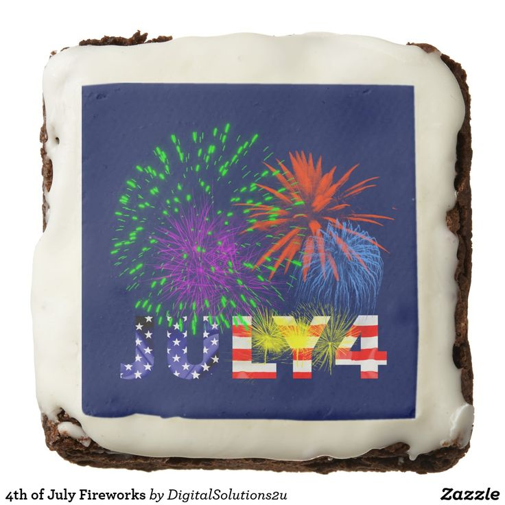 4th of July Fireworks Brownie