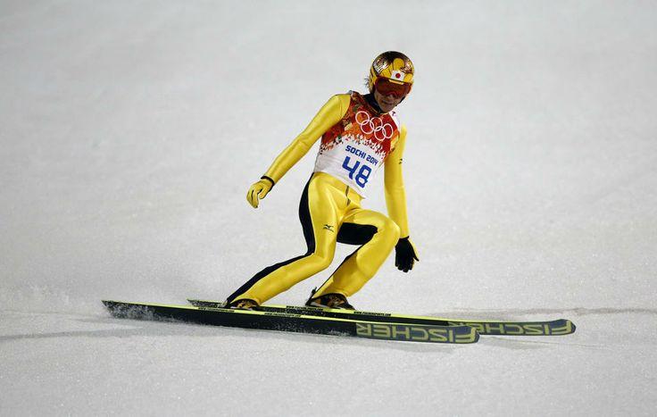 DAY 9:   Noriaki Kasai of Japan during the Ski Jumping Men's Large Hill Individual Finals http://sports.yahoo.com/olympics