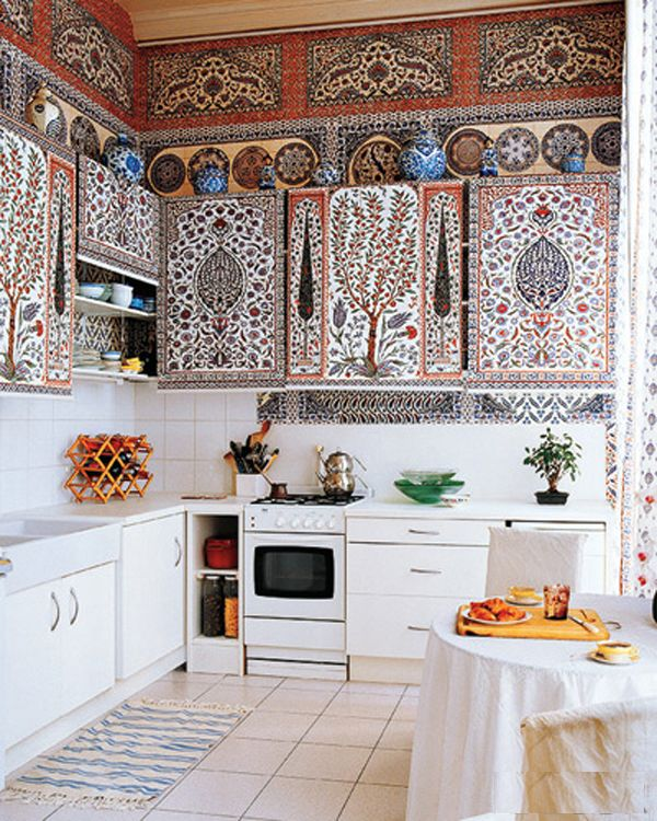Color Hippie Bohemian Mixed Pattern Home Decorating Ideas Kitchen