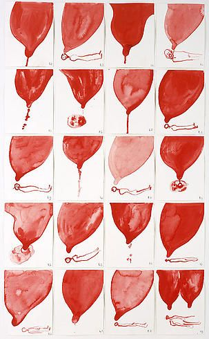 Louise Bourgeois, 'The Good Breast', 2007, gouache on paper.