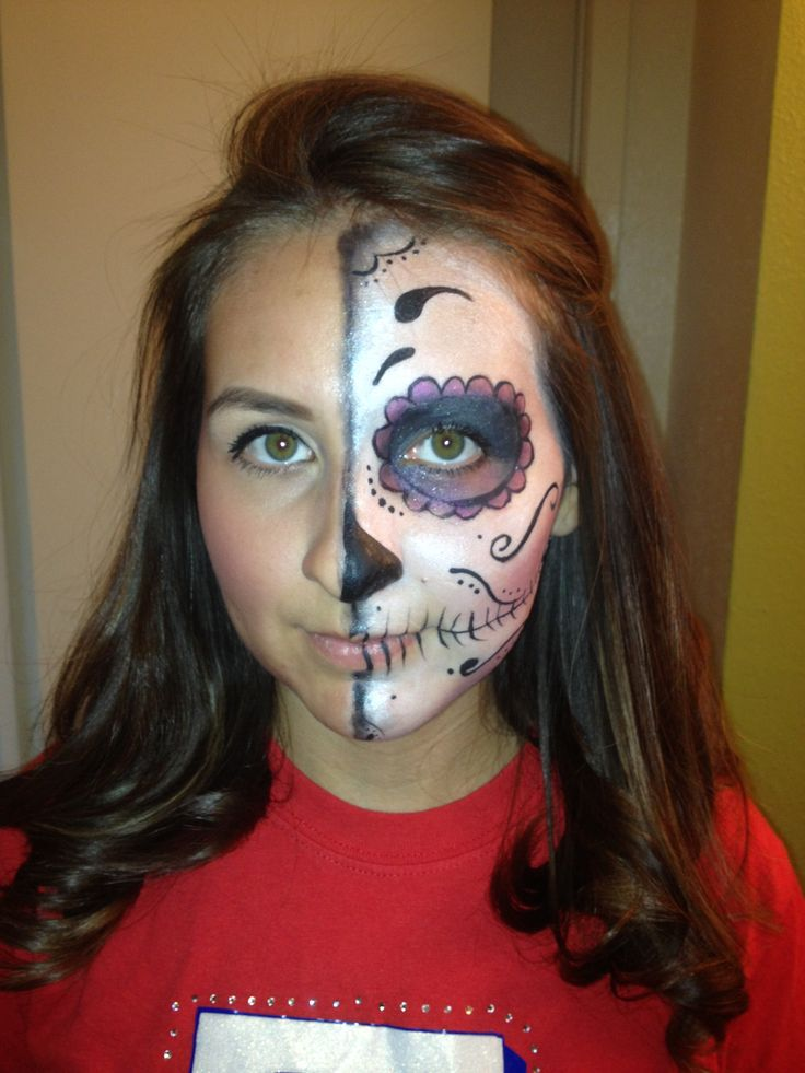 17 images about sugar skulls �� on pinterest half face