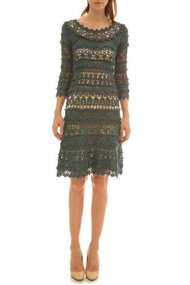 Vestido Crochet Olivia - Vanessa Montoro - vanessamontoro