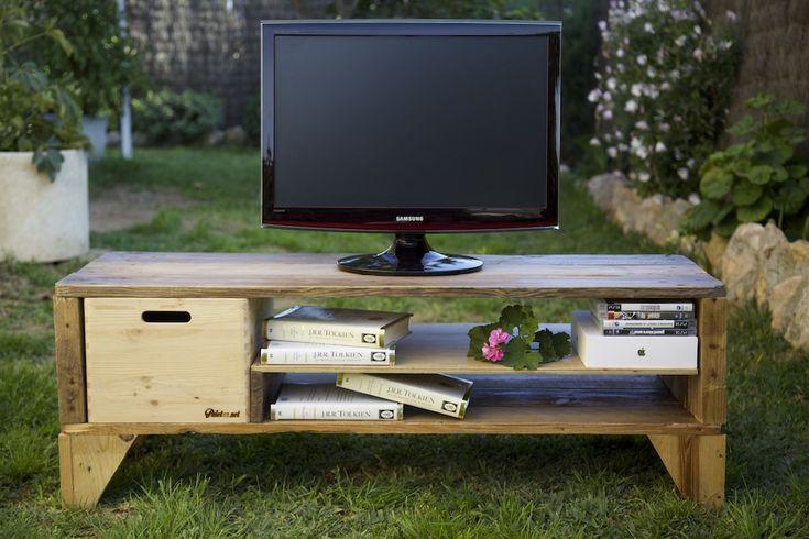 Mueble de tv hecho con palet reciclado tv table made - Muebles reciclados vintage ...