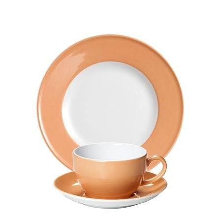 #Dibbern Solid Color Lachs - Frühstücksgedeck