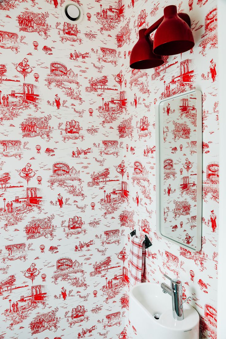 flavor paper brooklyn toile (With images) Bathroom
