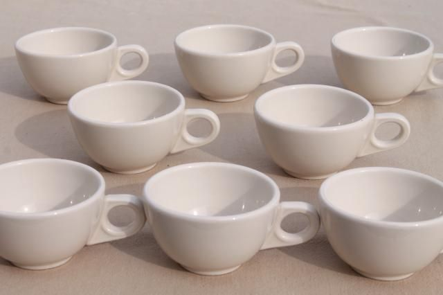 vintage oven proof dishes Homer Laughlin ironstone china restaurant ware coffee cups