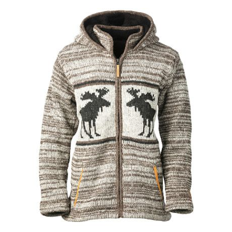 Kyber Brown Moose Sweater - Brown Heather