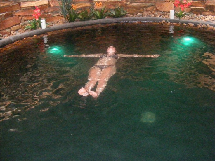 The flotation pool. Pure tranquility