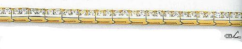 14k Yellow Diamond Tennis Bracelet 5 ct. tw.   MedallionTradingCompany.com