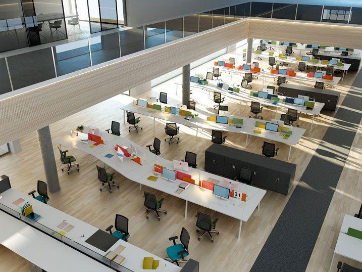 Amplia variedad de producto tanto para puestos individuales como compartidos, con múltiples soluciones en electrificación, diseño, funcionalidad y ergonomía, con el fin de satisfacer las exigencias actuales del mobiliario de oficina.