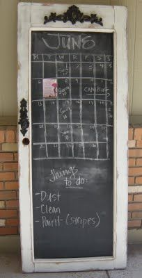 chalkboard door ... LOVE LOVE !! We have a gorgeous chalk board door at American Home & Garden in Ventura CA