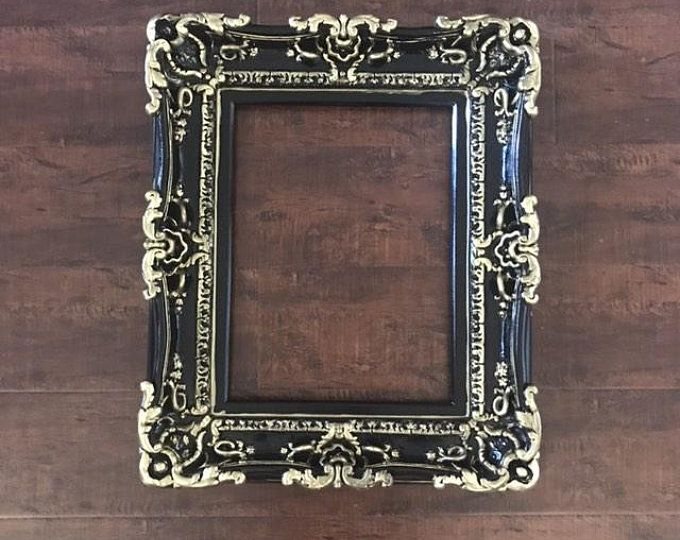 12x16 Black Frame Wall Mirror Frame For Canvas Or Art Paint Etsy Large Picture Frames Baroque Frames Frames On Wall