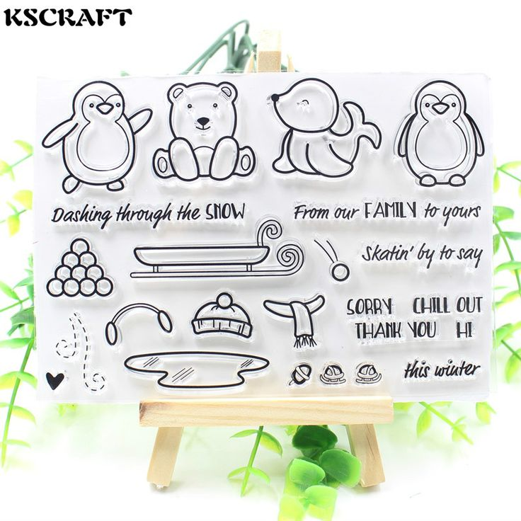 Cheap clear stamps, Buy Quality transparent clear silicone stamp directly from China clear silicone stamp Suppliers: KSCRAFT Cute Transparent Clear Silicone Stamp/Seal for DIY scrapbooking/photo album Decorative clear stamp sheets
