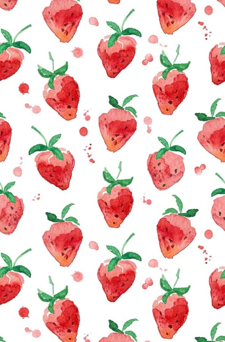 This makes me think of my Neeny. She covered her kitchen in strawberries <3 / Artist: unknown
