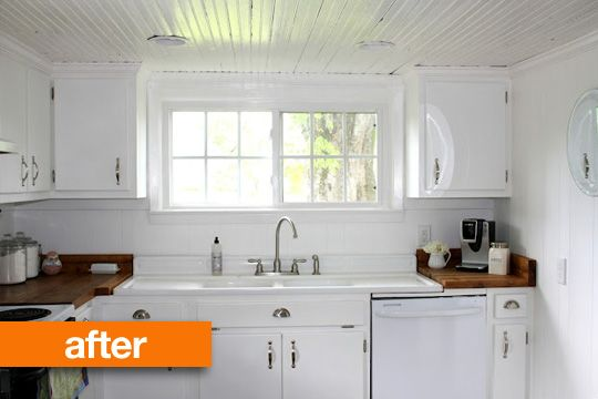 Quick fixes for a new home.: Butcher Blocks Countertops, Kitchens Remodel, Kitchens Ideas, Reclaimed Wood Countertops, Farmhouse Kitchens, Country Kitchens, White Cabinets, Kitchens Makeovers, White Kitchens