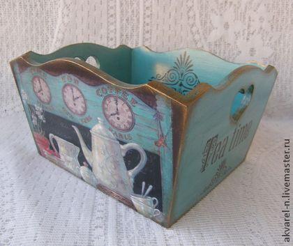 "Короб сухарница-конфетница ""Tea time"" - короб для хранения,короб,короб для кухни"