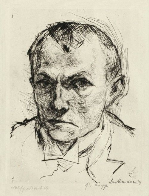 Max Beckmann - Self portrait, dypoint, 1914