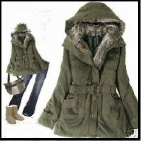 Fur Trim Winter Long Sleeve Coat