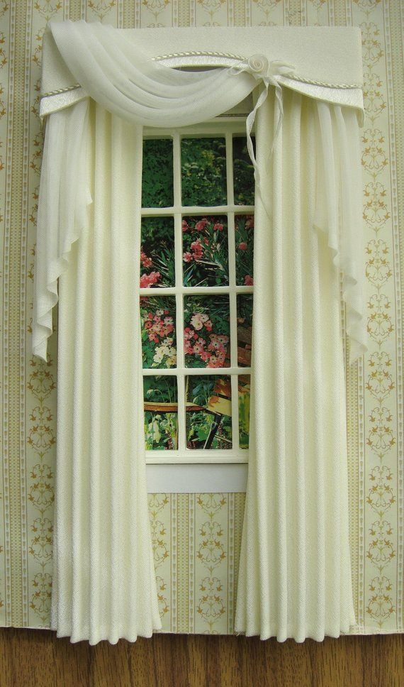 Miniature 1 12 Dollhouse Curtains To Order Doll House Curtains