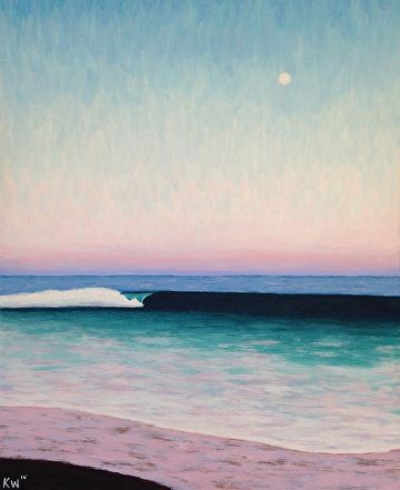 "Large Moon Surf by Kurt Weismair Acrylic ~ 20"" x 16"""