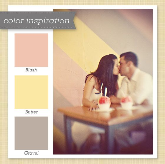 gray pink yellow color scheme | Sarah Hearts - Pink, Yellow and Grey Color Palette