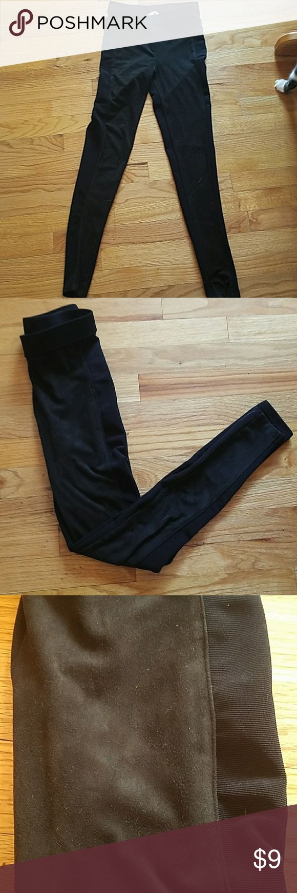 H&M Leggings size XS Black leggings from H&M  The front is suede and the back is normal legging material H&M Pants Leggings