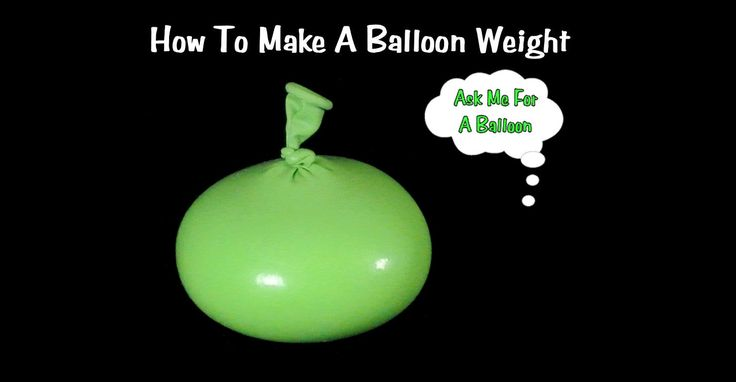 Learn how to make a balloon weight using salt or sand! This easy to do balloon weight can be made in any size that you need for your balloon decorations.
