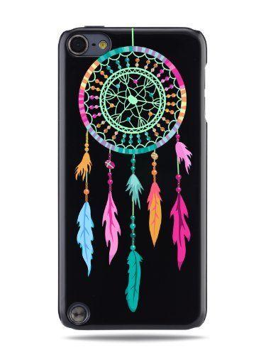 """GRÜV Case - Trés Chic! - Design """"Pièger à Rêves des Indiens d'Amérique"""" - Impression de Haute Qualité sur Coque Rigide Noir - pour Apple iPod Touch 5 5G de GRÜV, http://www.amazon.fr/dp/B00JXNDOW6/ref=cm_sw_r_pi_dp_ilIAub0X3RS9Y"""