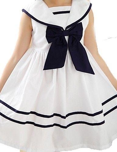 Vestido Chica deAlgodón-Verano / Primavera-Blanco 4873418 2017 – $14.99