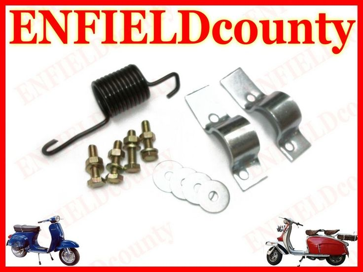 BRAND NEW VESPA CENTER STAND FIXING CLIPS NUTS SPRING & WASHER KIT OLD VESPA