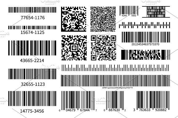 Barcodes Collection Vector Code Coding Vector Vector Images