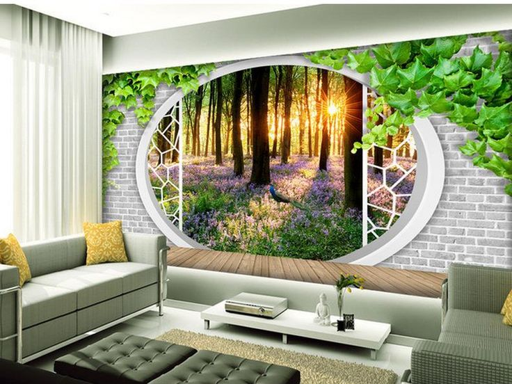 Top 25 best 3d nature wallpaper ideas on pinterest for Nature room wallpaper