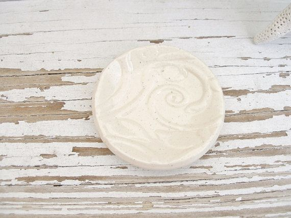 Small white rustic bridal jewelry dish pill by SeamariesBounty