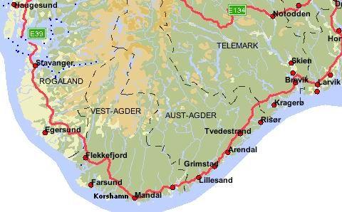 Zeilen met 17m jacht De Hilde Baudine naar Noorwegen: Larvik, Mandal, Flekkefjord en Stavanger