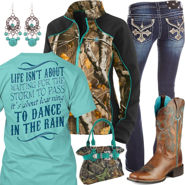 Dance In The Rain Ariat Boots Outfit - Real Country Ladies