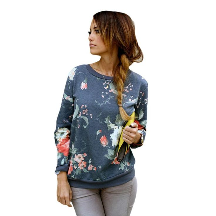 2016 New Fashion Floral pattern Women Pullovers O-Neck Collar Casual Slim hoody  Size. Item Type: Hoodies,SweatshirtsGender: WomenClothing Length: RegularFabric Type: BroadclothHooded: NoCollar: O-NeckSleeve Length: FullPattern Type: FloralSleeve Style: RegularType: PulloversStyle: FashionMaterial: Cotton,PolyesterWeight: 400Model Number: FZ040