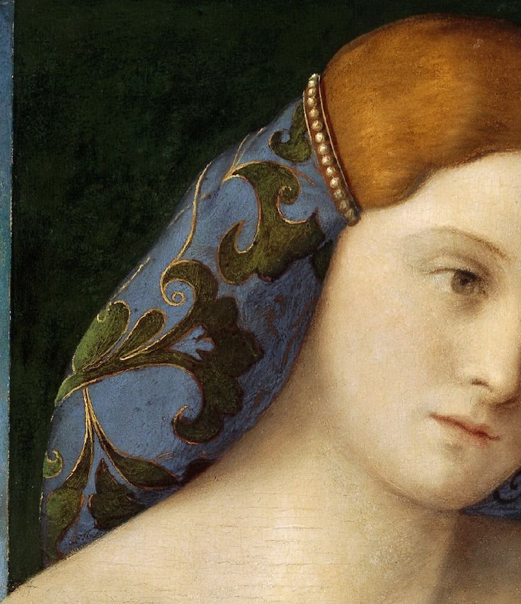 Young Woman in Front of the Mirror, by Giovanni Bellini (Italian, 1430-1516)
