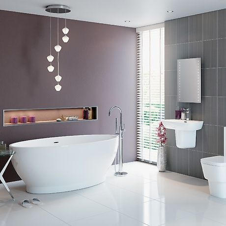 Bon Sparkle Bathroom Suite   A Stunning Simplistic Design With Elegance,  Embrace This Contemporary Style And