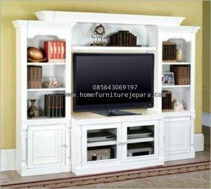 Bufet TV Minimalis White Duco