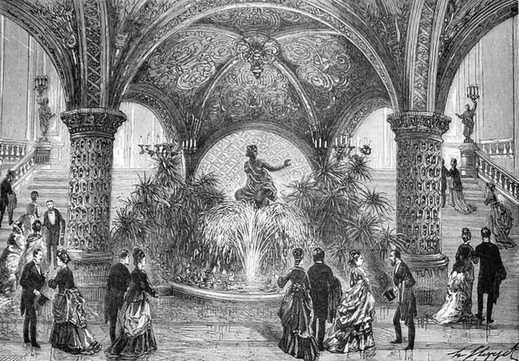 "The new Paris Opera House - The Fouuntain under the grand staircase ""The illustrated sporting and dramatic news"" 1875, 23, january"