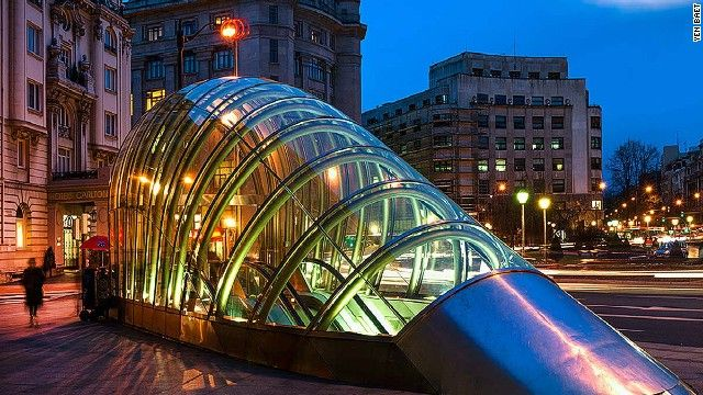 """8. """"Fosteritos,"""" Bilbao, Spain    Less than 20 years old, Bilbao's metro is the third-largest in Spain. Nicknamed """"Fosteritos"""" (""""Little Fosters"""") after their creator, Lord Foster."""