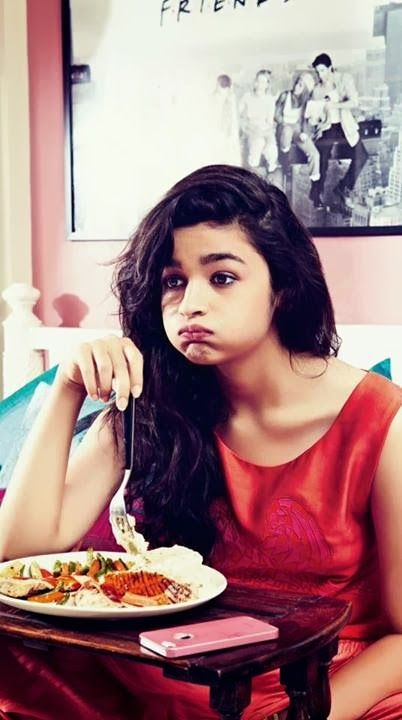 Funny Pics of Alia Bhatt at her home