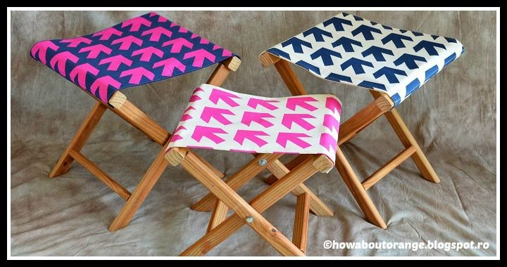 Learn to make an easy Folding Camp Stool by following this how to DIY tutorial. Grab the tools (wood, screws, drill, fabric, screw driver) and get creative!