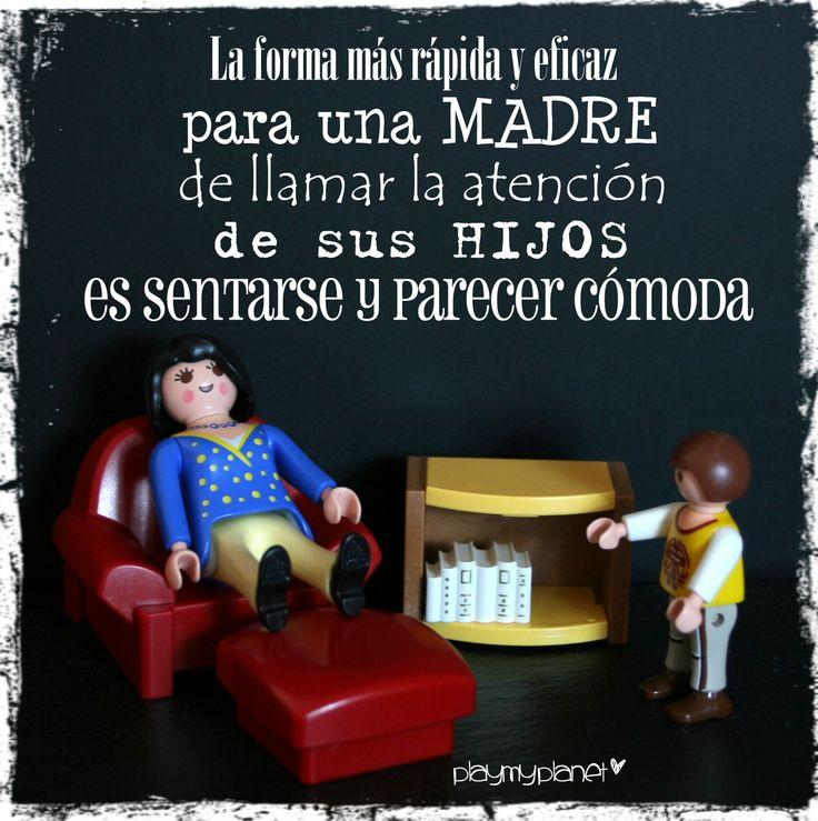 os parece cierta nuestra frase de hoy??? #playmobil #mamá #hijos