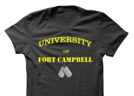 This is for all our Fort Campbell soldiers and veterans. Get it here http://www.customteesandapparel.net/campaign/ftcampbell_tee/