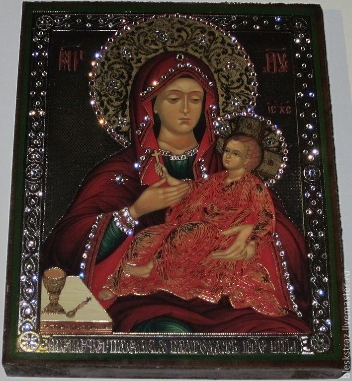 Вышитая стразами икона Неисчерпаемая Благодать Пресвятой Богородицы