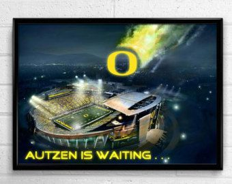 Oregon Ducks Football Poster Duck Force by SportPostersUSA on Etsy