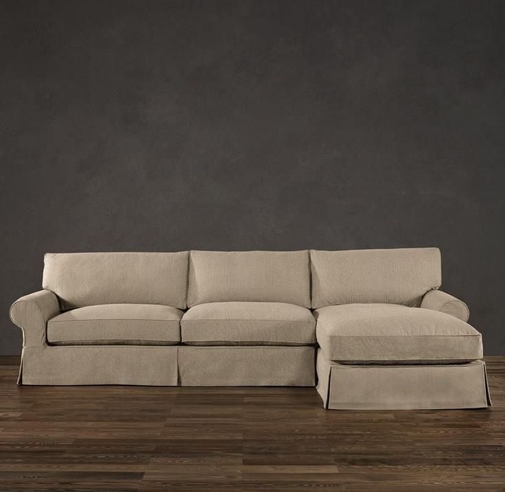 Pin by michelle kinnaird on baby girl cortaney pinterest for Small sectional sofa restoration hardware